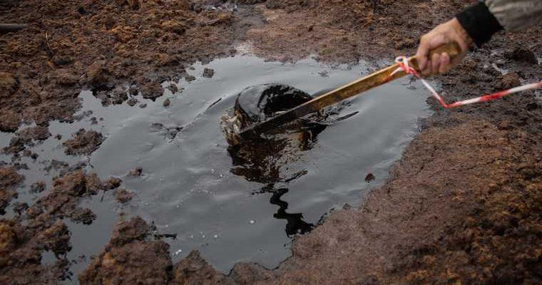 река Нумги в ЯНАО разлив нефти