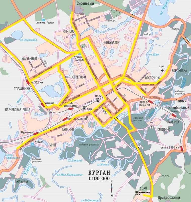 Тюменцы предложили построить в Кургане сеть велодорожек. Карта