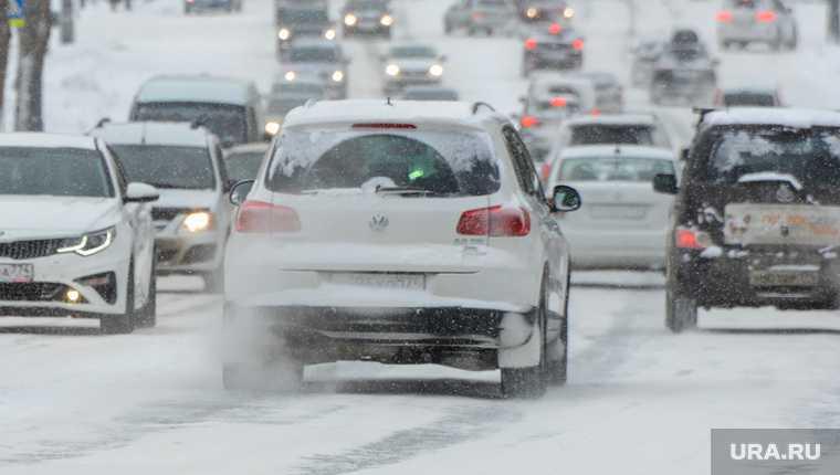 Челябинская область М5 пробка снег миндортранс