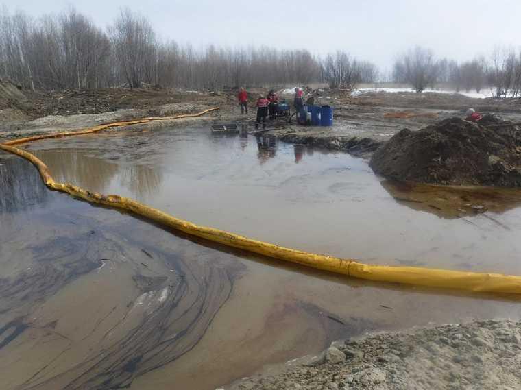 В ХМАО произошел новый разлив нефтепродуктов. Фото