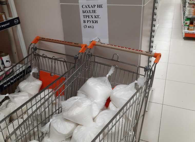 В магазине крупной сети Кургана ограничили продажу сахара. Фото