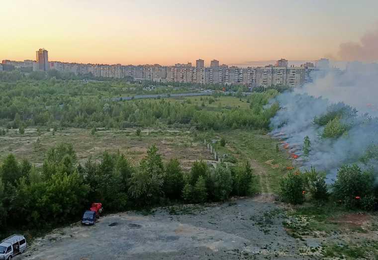 площадка аквапарка пожар Челябинск