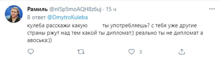 В РФ высмеяли Кулебу за призыв обменять «Северный поток» на Крым. «Не министр, а авоська»