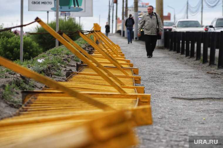 упал забор на мосту Курган